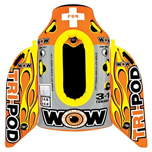 WOW World of Watersports, 13-1020, Tri Pod, 3 Towables in One, Cockpit or Deck Tube   B01KH58PQ8