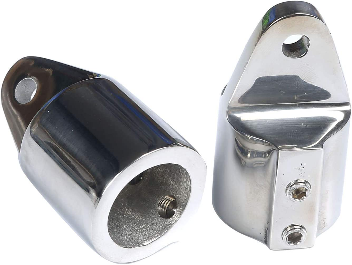 NRC/&XRC Bimini Top Cap Eye End 1inch 7//8 with Two 1//4 Holes of The Eye Marine Stainless Steel 316 Heavy Duty Dome top Pair
