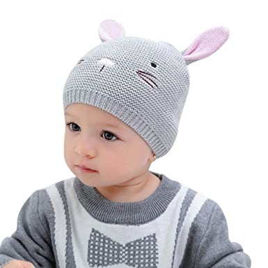 XIAOHAWANG Baby Boys Girls Beanie Knit Infant Baby Caps Cute Rabbit Toddler  Hat Cute Ears ( 3d619dce230
