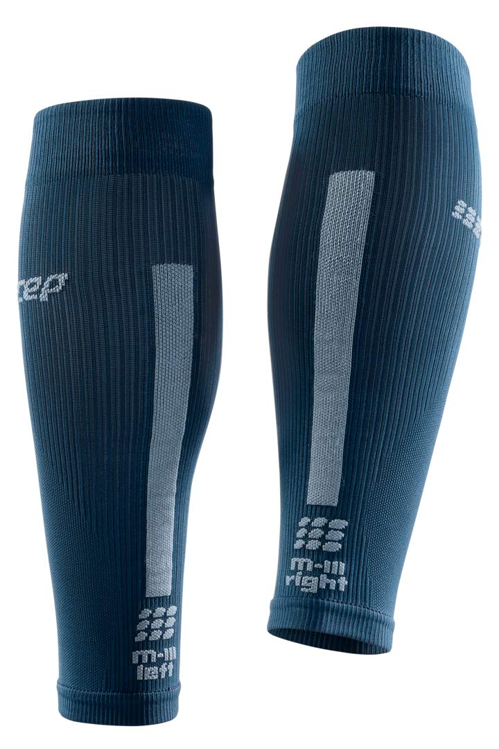 CEP Women's Compression Run Sleeves Calf Sleeves 3.0, Blue/Grey II by CEP (Image #4)