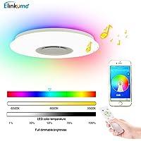 ELINKUME Lámpara de Techo Regulable Cambio de Color