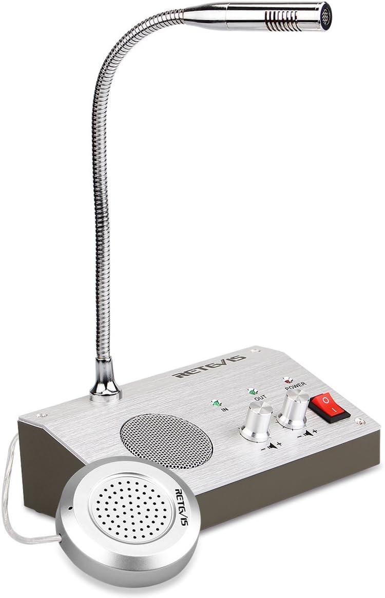 Retevis RT-9908 Window Speaker System,Intercom System for Business,Microphone Intercom,Window Intercom Speaker for Bank,Counter,Store,Restaurant