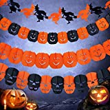Halloween Party Supplier Garland Paper Chain Banner Decor Carnival Props Decoration Witch(3 Meter)