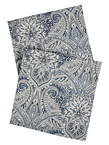 Paisley Table Runner - Blue Table Runners 72 Inch Table Runner Table Linens Dining Table Cloth Buffet Table Covers Paisley Fabric Tablecloths