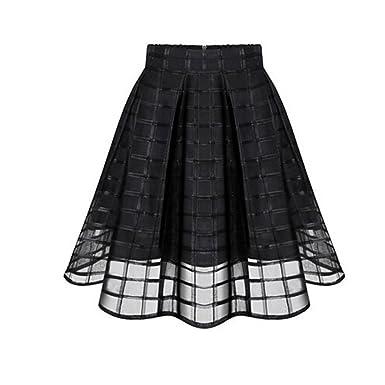 Gusspower Falda de Verano, Faldas de Organza de Verano de Las ...