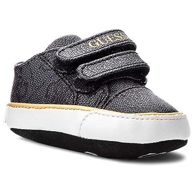 e0d1f910ec76 Guess Baskets Bébé Fille Flo Noir  Amazon.fr  Chaussures et Sacs