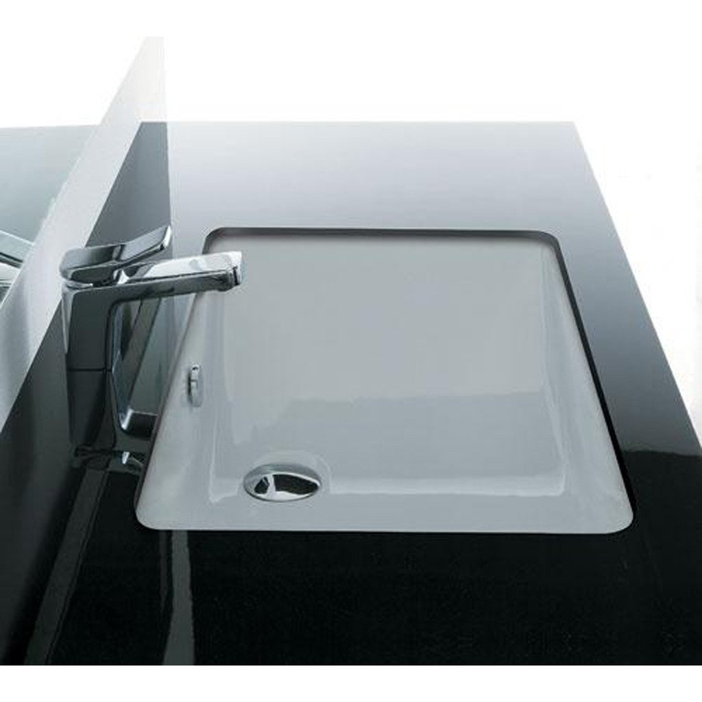 LADA LD-3019 Bath Lavatory 21.26 x 13.39 x 5.51 Undermount Ceramic Sink White by LADA