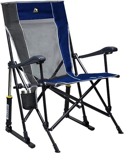 GCI Roadtrip Rocking Chair Outdoor Royal Blue/Pewter
