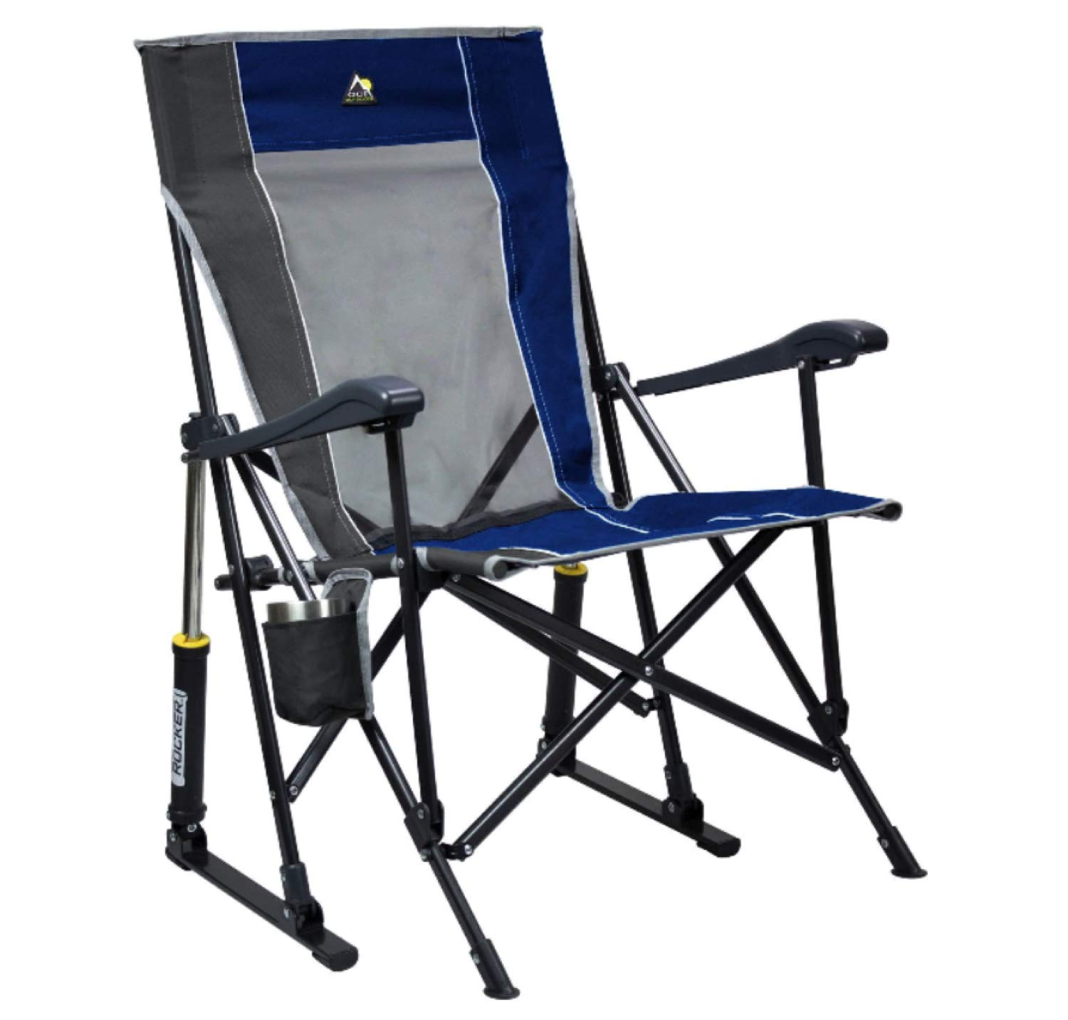 GCI Roadtrip Rocking Chair Outdoor (Royal Blue/Pewter) by GCI
