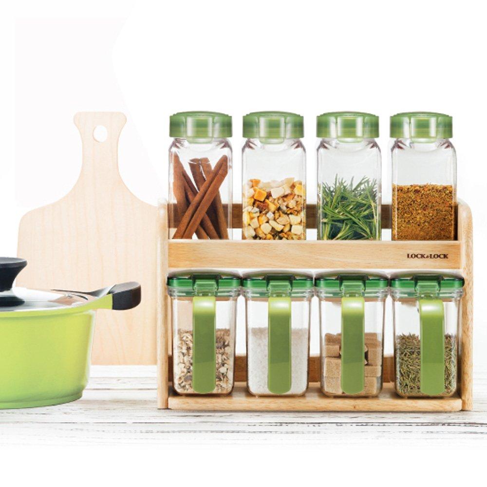 Seasoning Canister Case Organizer 15 Oz 8pcs Set LAL HPL949S8 Lock /& Lock Slim Dryfood