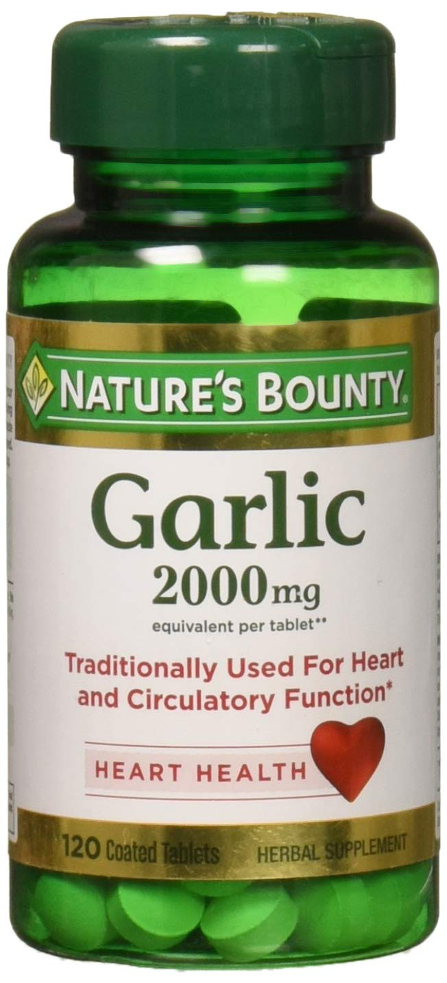 Nature s Bounty Garlic 2000mg, Tablets 120 ea