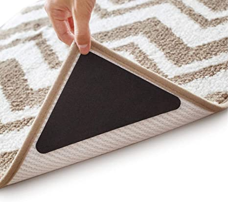20Pack Rug Gripper 2X Adhesive Non Slip Sticky Carpet Tape for Hardwood Floors Tile Marble,Reusable Grip Mat Protector Premium Large Anti Curling Rug Gripper Hold Rug in Place /& Make Corners Flat