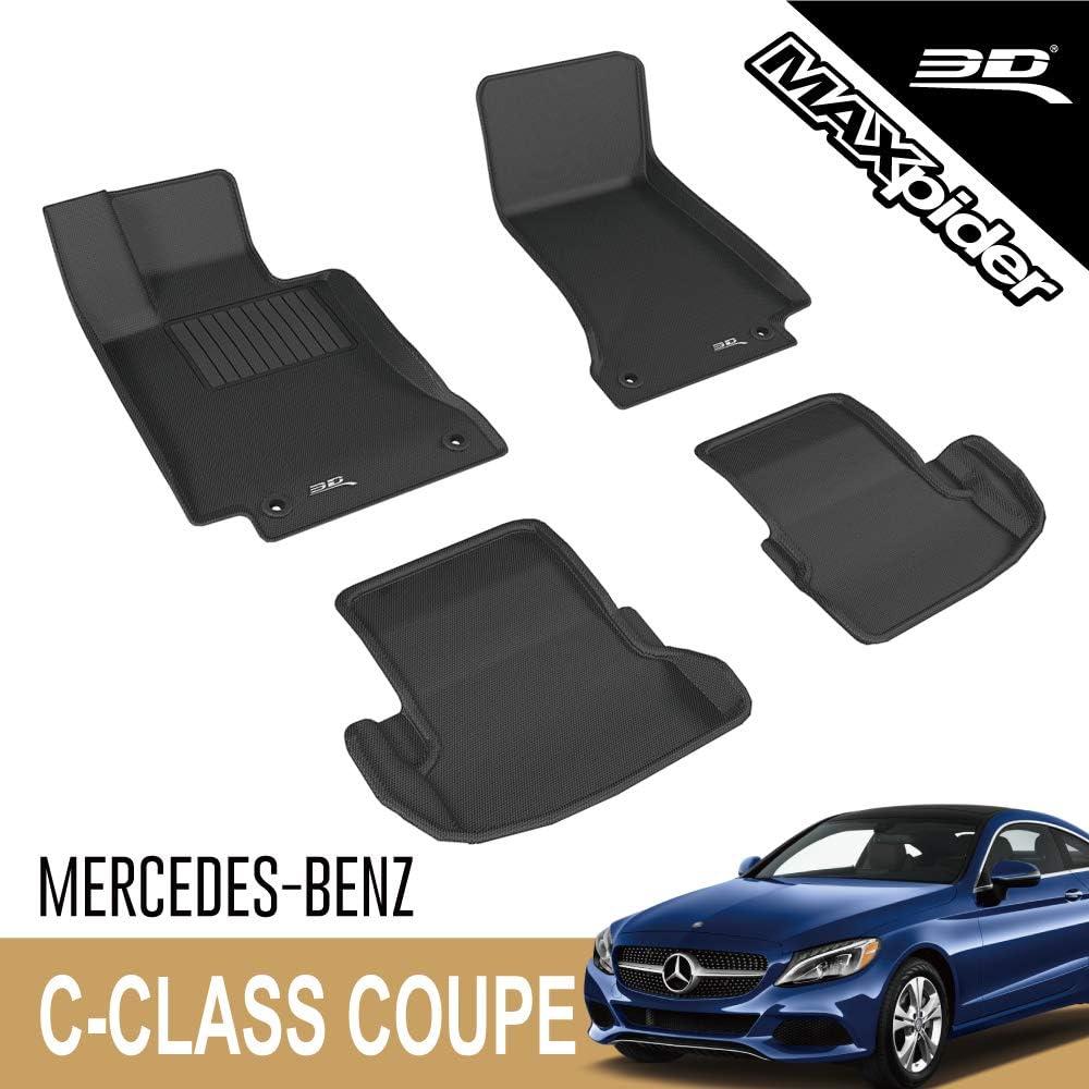 3d Maxpider Allwetter Fußmatten Für Mercedes Benz C Klasse Coupe C205 2017 2020 Passgenau Auto Bodenauskleidung Kagu Serie 1 2 Reihe Schwarz Auto