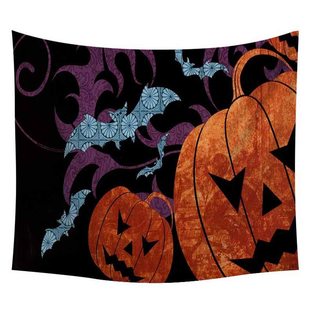 arazzo tovaglia vijTIAN Arazzo con Stampa di zucche di Halloween per Poster Tappetino da Yoga da Appendere alla Parete Decorazione da Parete G da Appendere alla Parete
