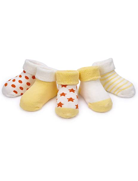 Adorel Calcetines Invierno para Bebé Niñas paquete de 5: Amazon.es: Ropa y accesorios
