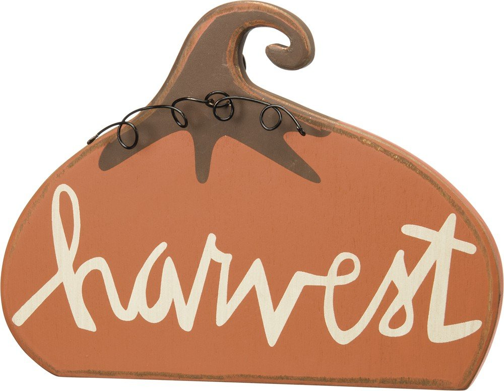 Standing Harvest Pumpkin Wood Sign Fall Decoration Home Decor for Thanksgiving
