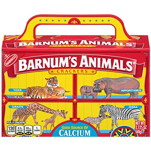 Barnum's Animals Crackers, 2.125-Ounce Box (Packaging May - Circus Animal Cookies