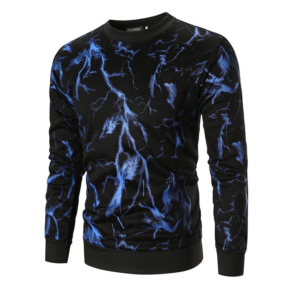 Clearance Sweatshirt Pullover,Mens Autumn Long Sleeve Printed Pullover Sweatshirt Top Tee Outwear Blouse for Men Teen Boys
