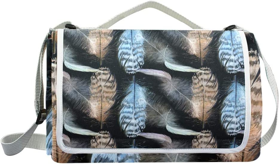 XINGAKA Coperta da Picnic Tappetino Campeggio,Stivali Sportivi Senza Cuciture Moda Decorato,Giardino Spiaggia Impermeabile Anti Sabbia 14