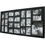 Painel Fotos 103X53 22 Fotos 10X15cm e 1 Foto 15X21cm Kapos Preta 103X53X3