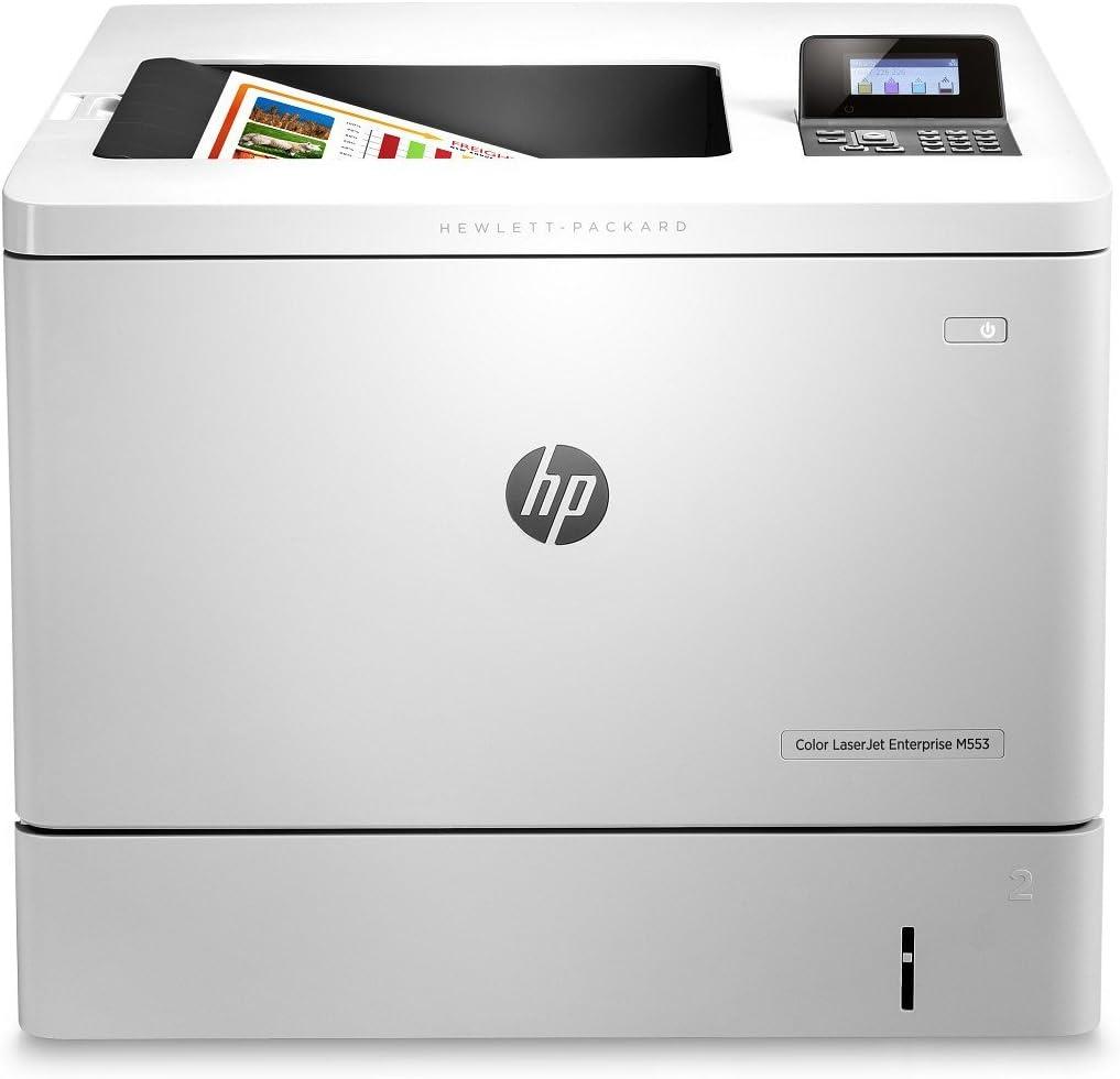 HP LaserJet M553n Laser Printer - Color - 1200 x 1200 dpi Print - Plain Paper Print - Desktop B5L24A#BGJ (Renewed)
