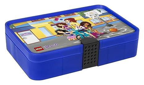 LEGO 4084 Caja de Almacenamiento Friends, Contenedor con Compartimentos, Morado translúcido, Lavender,