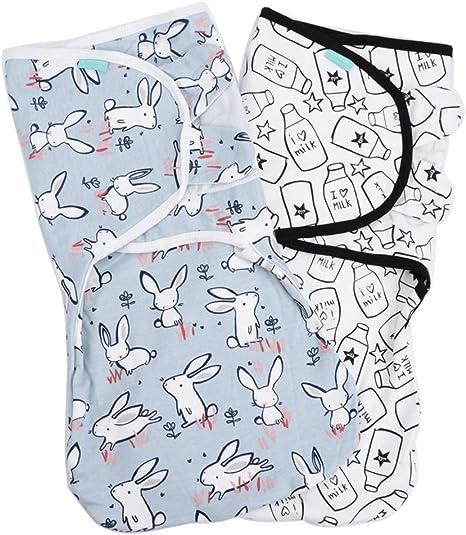 Lekebaby Manta Envolvente para Bebé y Recien Nacido – 2x Saco de Dormir Manta de Arrullo Cobija 100% Algodón - 0-3 Meses unisexo: Amazon.es: Bebé