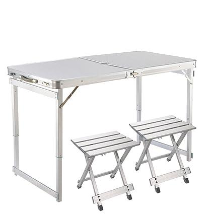 XUANLAN Mesa plegable plegable de la aleación de aluminio moderna Altura ajustable ajustable de la tabla