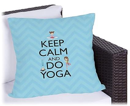 Amazon.com: Keep Calm & Do de yoga almohada al aire última ...