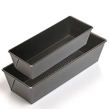 JPF - Molde de Horno Plumcake - Acero al Carbono con Recubrimiento Antiadherente -Set de 2 - 30 y 25 cm: Amazon.es: Hogar