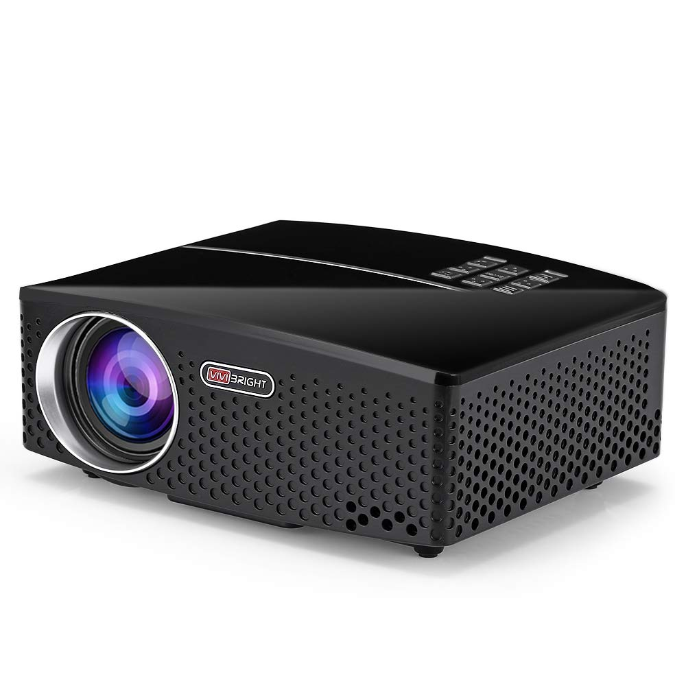 VIVIBRIGHT GP80 - Proyector LED portátil (1800 lúmenes, HD, 1080p ...