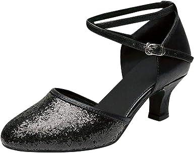 Women Pumps Shoes Spring Autumn Comfortable Round Toe Elegant Latin Dance Shoes