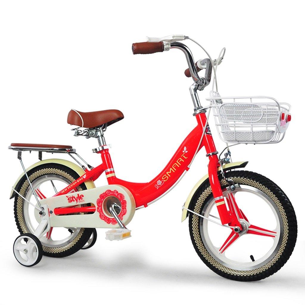 子供用自転車ガールズバイクサイクリング自転車12インチ24年自転車、赤/青 ( Color : Red ) B07BX7V9NN
