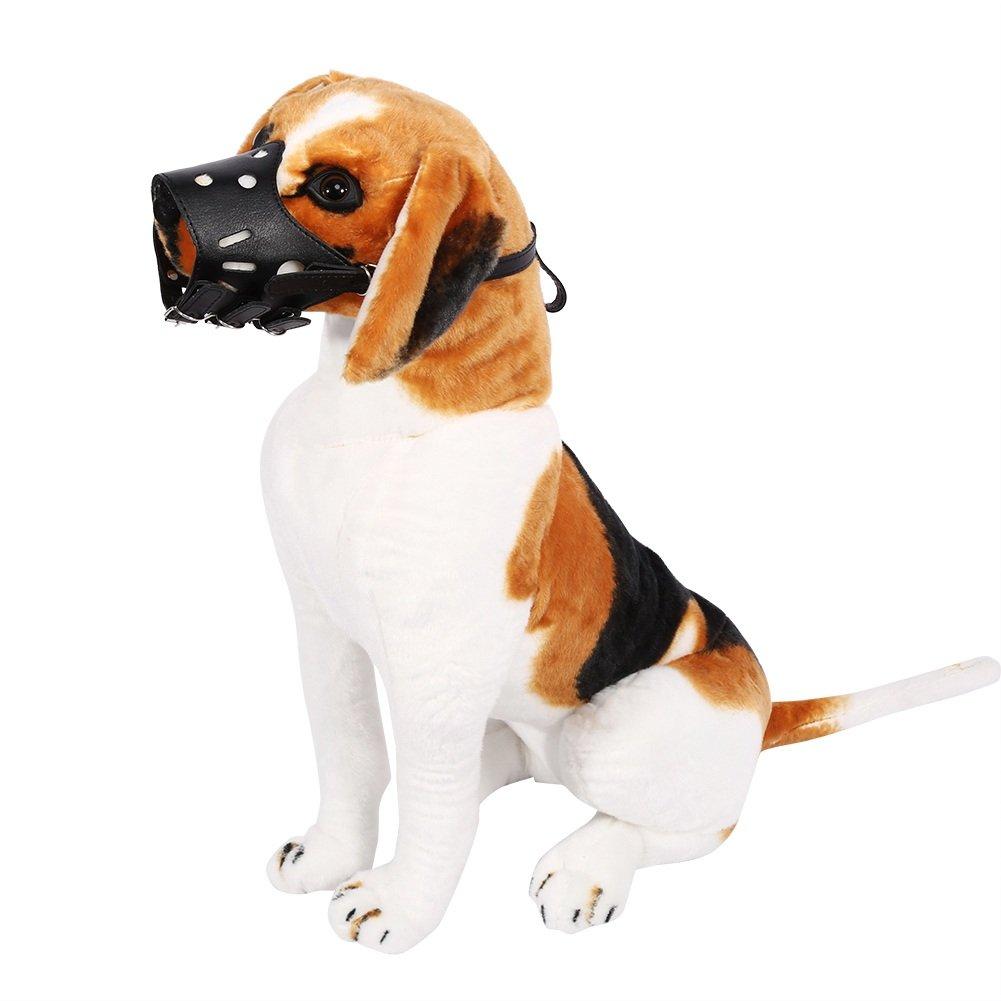Muselière Chien Respirant Masque Pour Bouche Masque Anti-morsure En Cuir Sécurité Extérieur Pour Chien Animaux ( Couleur : Marron , Taille : S ) Yosoo