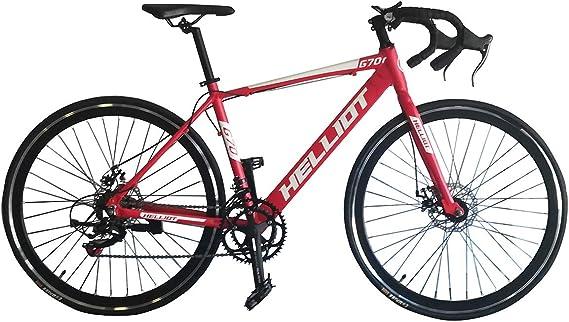 Helliot Bikes Goa 7.0 Roja Bicicleta de Carretera, Adultos Unisex, Rojo, Mediano: Amazon.es: Deportes y aire libre
