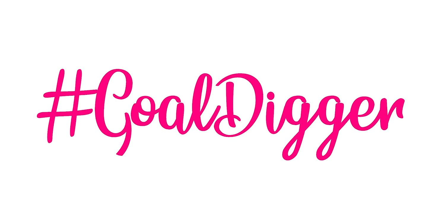 Available in Multiple Colors /& Regular or Mirror Cut Goal Digger Decal