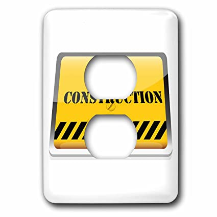 3drose Lsp 153121 6 A Yellow Under Construction Sign Light Switch