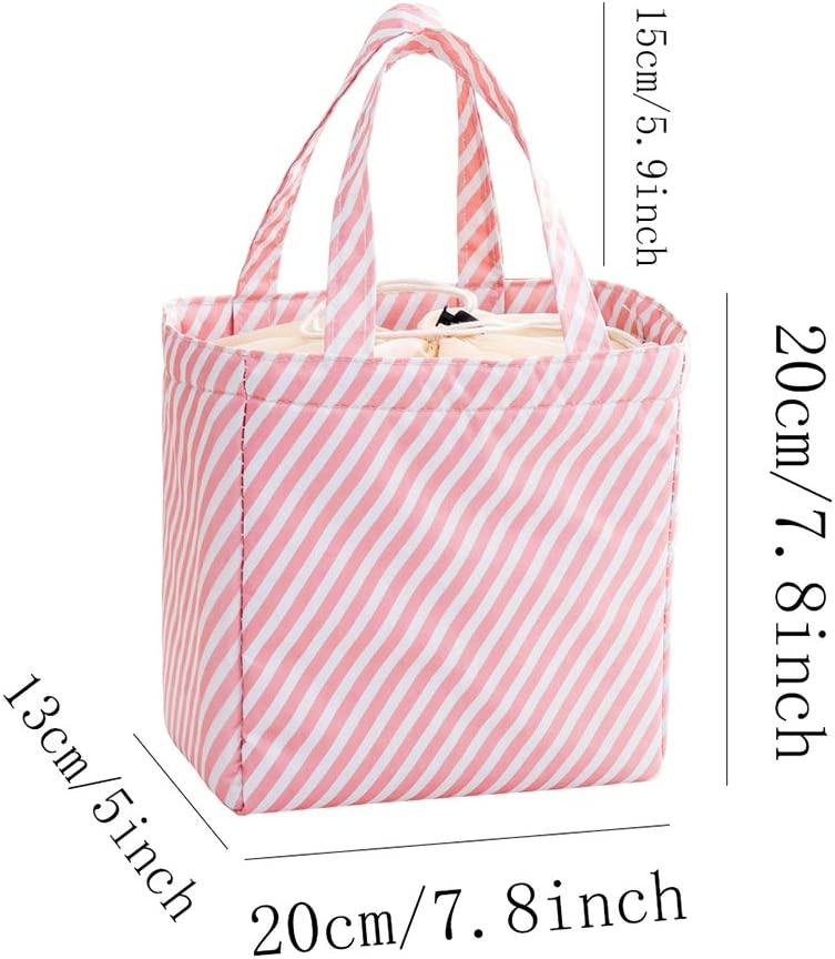 Rolin Roly 2 Paquete Bolsa del Almuerzo Impermeable Lonchera Para Ni/ñas Lunch Bag B