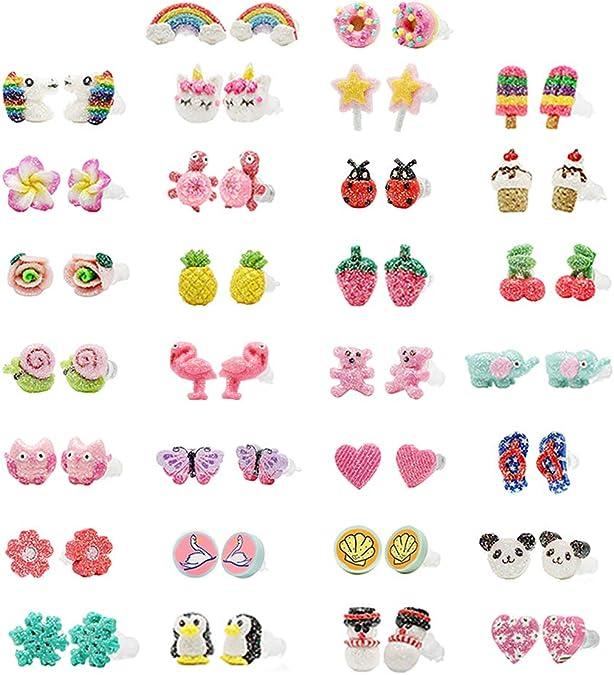 Small cat stud earrings Kawaii earrings emoticon earrings for girls for her girls gift for teen for all ages