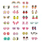 Minihope Hypoallergenic Plastic Post Earrings for Girls