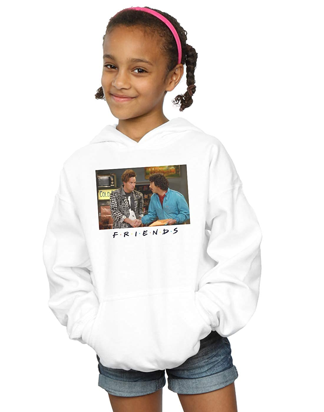 Absolute Cult Friends Girls Ross and Chandler Handshake Hoodie
