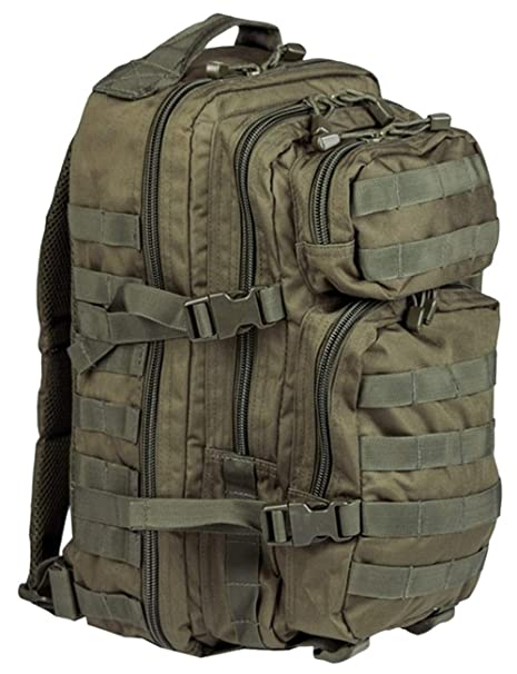 a54b99c37 Amazon.com : Mil-Tec Military Army Patrol Molle Assault Pack Tactical  Combat Rucksack Backpack Bag 20L Olive Green : Sports & Outdoors