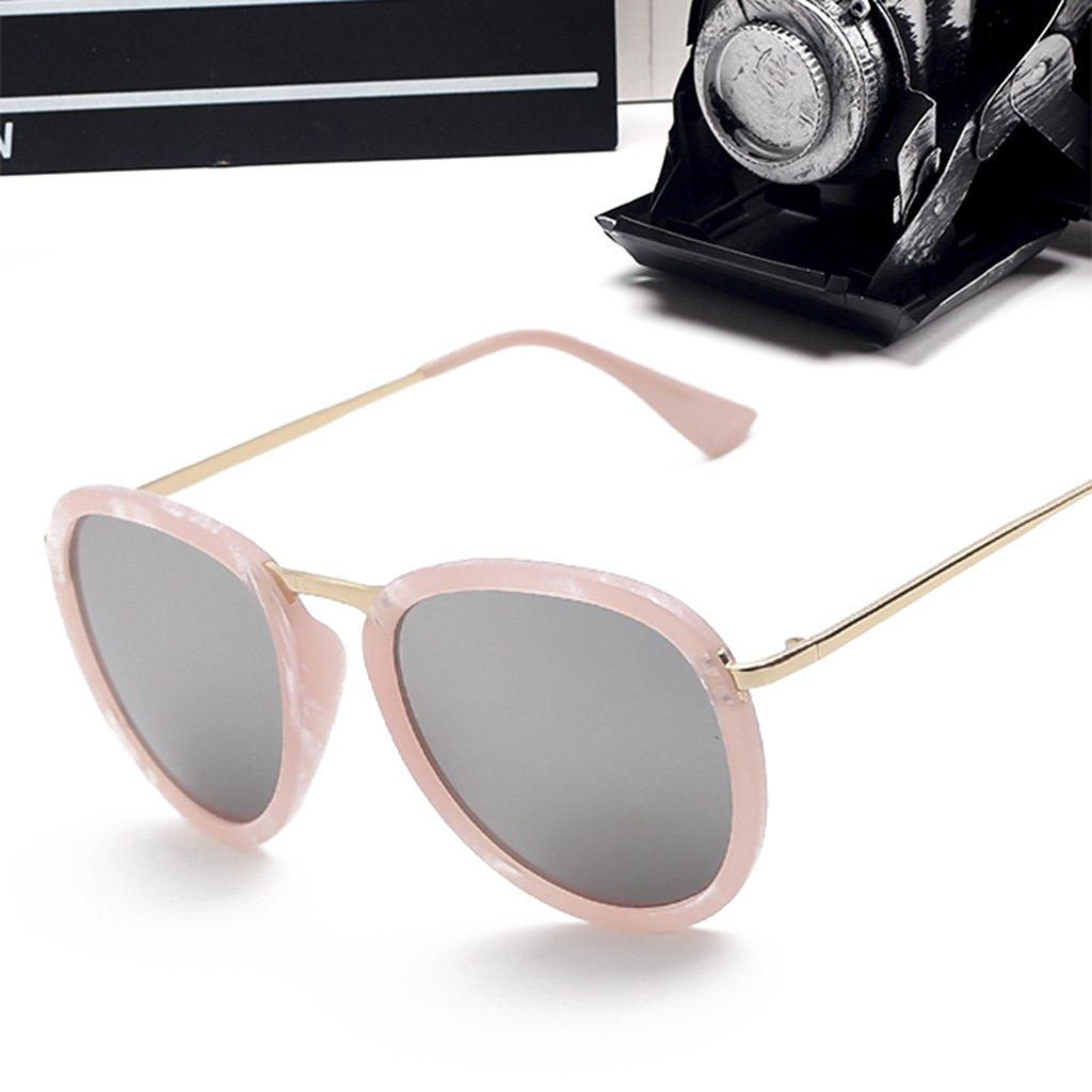 aa85d86328 LYM &&Gafas de protecciónn Gafas de Sol de Moda Ronda Gafas de Sol  Elegantes Gafas de Sol Coreanas Gafas de Sol de protección UV -X54 (Color :  #5): ...