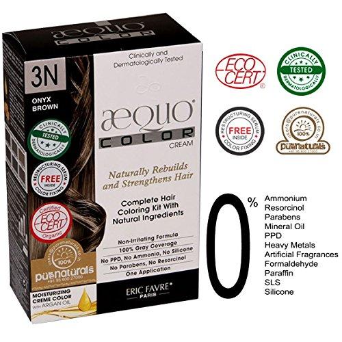 - Aequo Color Cream Kit 3N Onyx Brown