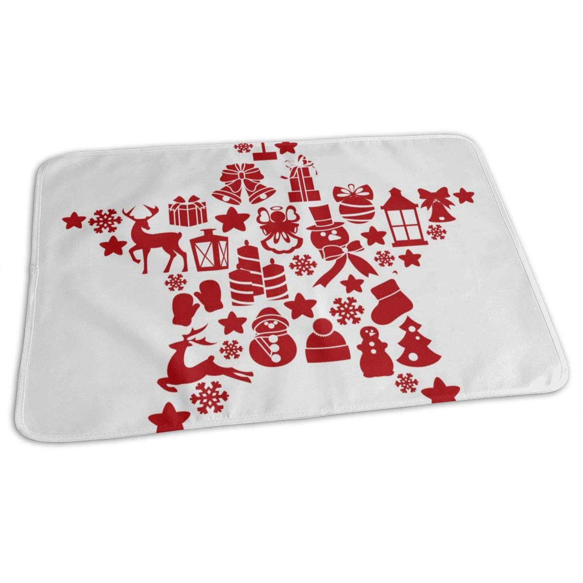 Osvbs Lovely Baby Reusable Waterproof Portable Christmas Elements and Decorations Changing Pad Home Travel 27.5''x19.7'' by Osvbs