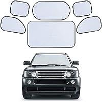 Sombrilla para parabrisas de automóvil, Sombrilla para automóvil de 6 piezas Cortinas de ventana trasera completa para…