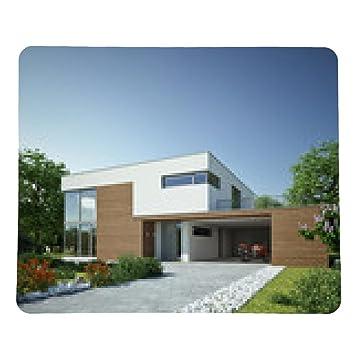 Haus Kubus 3 Holz Mit Carport Mousepad Rectangular Amazon Co Uk