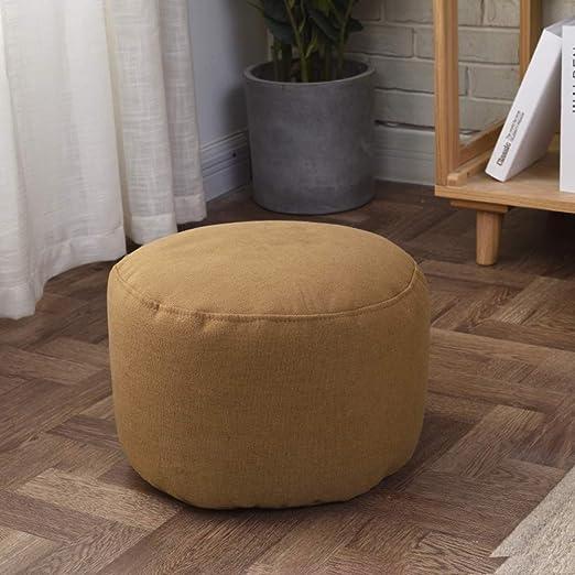 DS&Footstool Puffs Otomana Taburete,Color Sólido Bolso De La Haba ...
