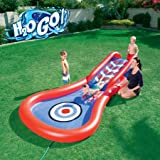 Inflatable Water Slide Splash and Play Cannon Ball Comes with an Inflatable Board, Multicolored, Great Addition for Outdoor Fun