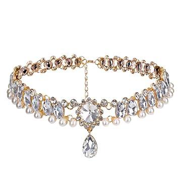 New Fashion Jewelry Wedding Full Diamond Crystal Rhinestone Choker Necklace